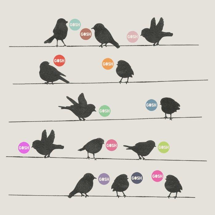 Birdsong_Gosh by Garima & Rachel  Duvet Cover