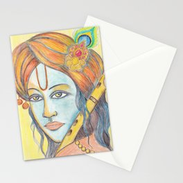 Lord Krishna painting from Russia Stationery Cards