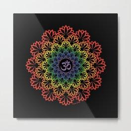 Namaste Lotus (Plain) Metal Print