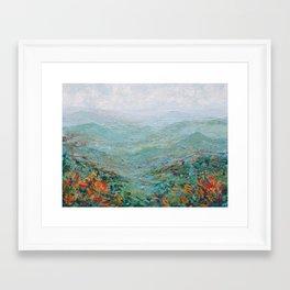 Blue Ridge October Framed Art Print