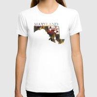 maryland T-shirts featuring Maryland by david zobel