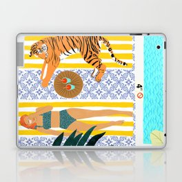 How To Vacay With Your Tiger #illustration Laptop & iPad Skin