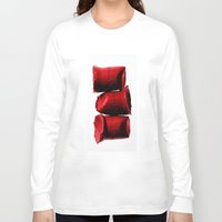 lipstick Long Sleeve T-shirts featuring Lipstick by I Love Decor