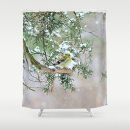 Lost in Time: April Snowstorm Shower Curtain