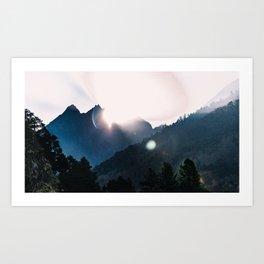 Nepal series | Sunrise on Path to Namche, Himalayas Art Print