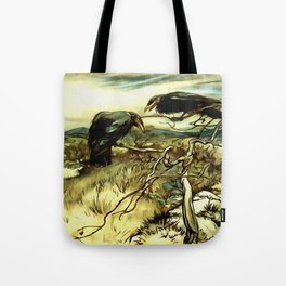 The Two Crows Tote Bag