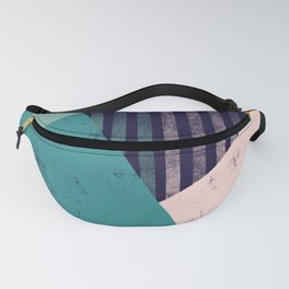 Abstract Geo 2 Teal Blue Blush Orange Fanny Pack