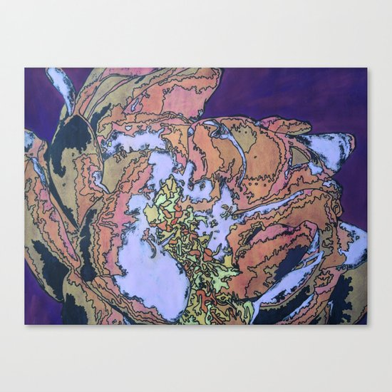 Batik Flower Canvas Print