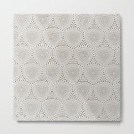 Taupe Textured Pattern Design Metal Print