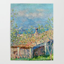 "Claude Monet ""Gardener's House at Antibes"", 1888 Poster"
