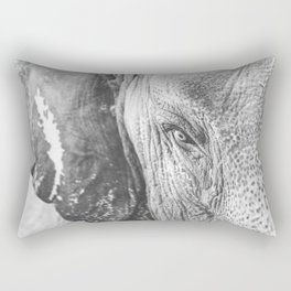 Gentle Giant (black + white) Rectangular Pillow