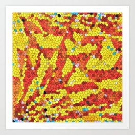 Yellow and red abstract Art Print