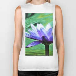 Purple Water Lily Biker Tank