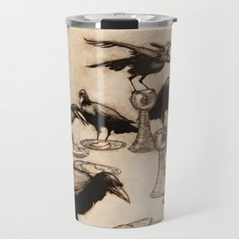 """The Seven Ravens"" by Arthur Rackham From The Grimm Brothers Travel Mug"