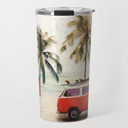 Vintage Beach Days Travel Mug