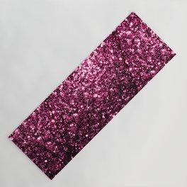 Beautiful Dark Pink glitter sparkles Yoga Mat