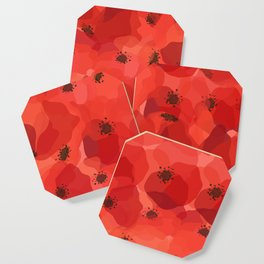 FIELD OF POPPIES Coaster