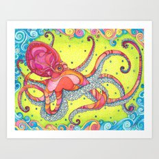 Giant Pacific Octopus Art Print