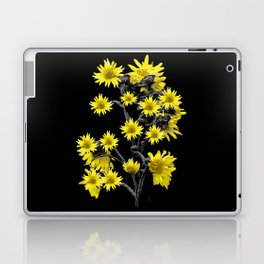 Sunflowers Over Black Laptop & iPad Skin