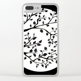 black tree Clear iPhone Case