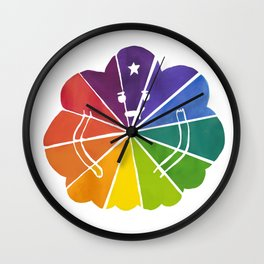 LSP Colour Wheel Wall Clock