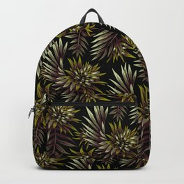 Aechmea Fasciata - Dark Green / Brown Backpack