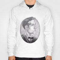 alex turner Hoodies featuring Alex Turner Drawing by annelise johnson