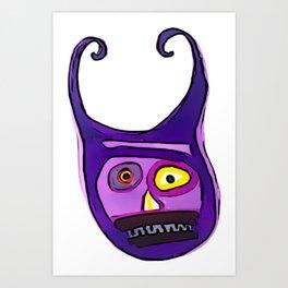 Purple Maniac Art Print