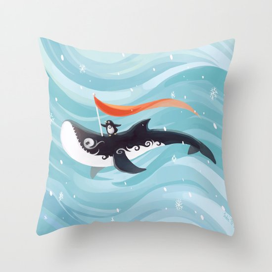 Grandpa Orca Throw Pillow