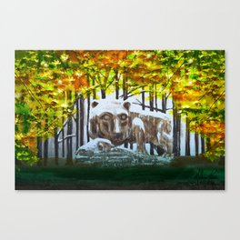 Fall's Lion Canvas Print