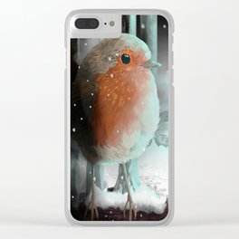 Strange lights in the woods Clear iPhone Case