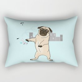 Attack of the Massive Pug!!! Rectangular Pillow