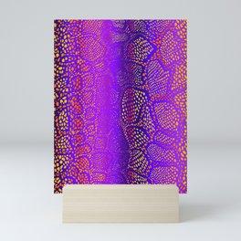 Colorful Snake Skin Mini Art Print