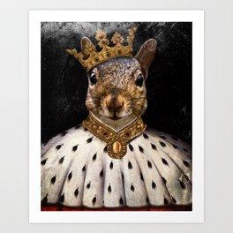 Lord Peanut (King of the Squirrels!) Art Print