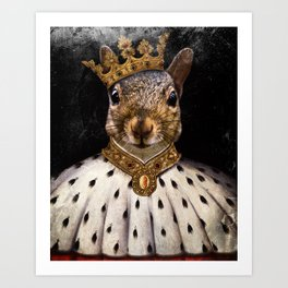 Lord Peanut (King of the Squirrels!) Art Print