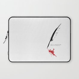 Edgar Allan Poe - Strangeness Laptop Sleeve