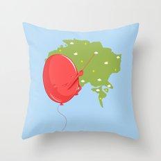 Weather Balloon Throw Pillow