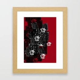 Japanese wall flowers Framed Art Print