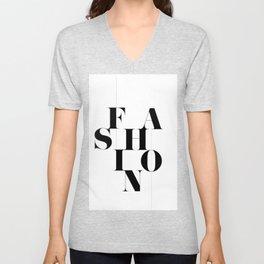 """Classic """"Fashion"""" Typography Unisex V-Neck"""