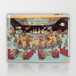 Red Pandas In Space Getting Burgers and Shakes Laptop & iPad Skin