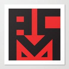 ACM Red Devils Type Logo Canvas Print