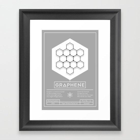 Graphene: Super Science Series No.1  Framed Art Print
