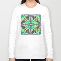 trex Long Sleeve T-shirts featuring T. Rex Ice Pattern by chobopop