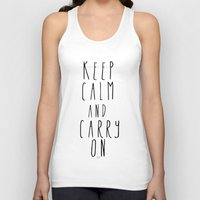 keep calm Tank Tops featuring keep calm by Melissa