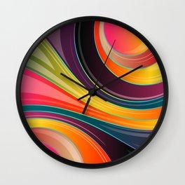 Swirling Wave Wall Clock