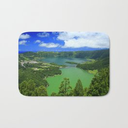 Lakes in Azores islands Bath Mat