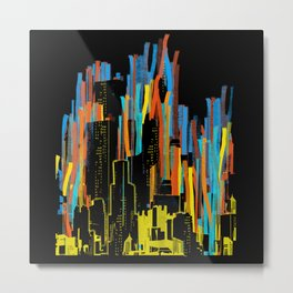 strippy city Metal Print