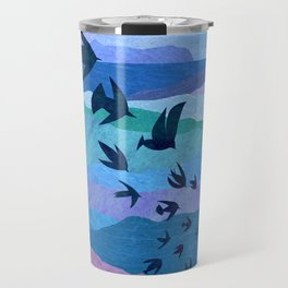 Blue Mountains Bird Flight Travel Mug
