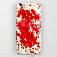 blood iPhone & iPod Skins featuring blood by LaSoffittaDiSte