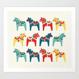 Swedish Horses Art Print